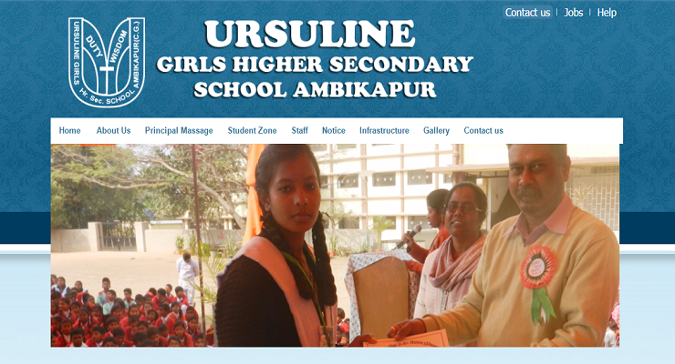 Ursuline Girls Higher Secondary School, Ambikapur